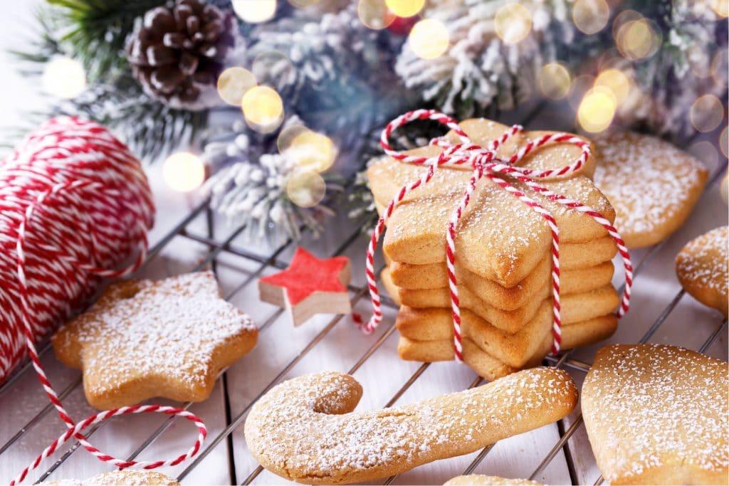 Christmas Shortbread Cookies Blog Image. Image du Blog biscuits sablés des fêtes.