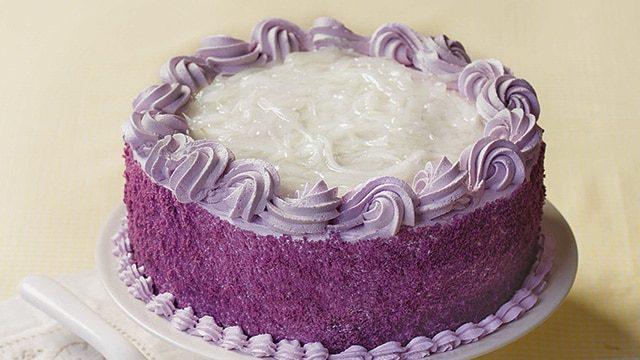 Purple Yam Ube Desserts Blog Image. Image du blog igname pourpre.