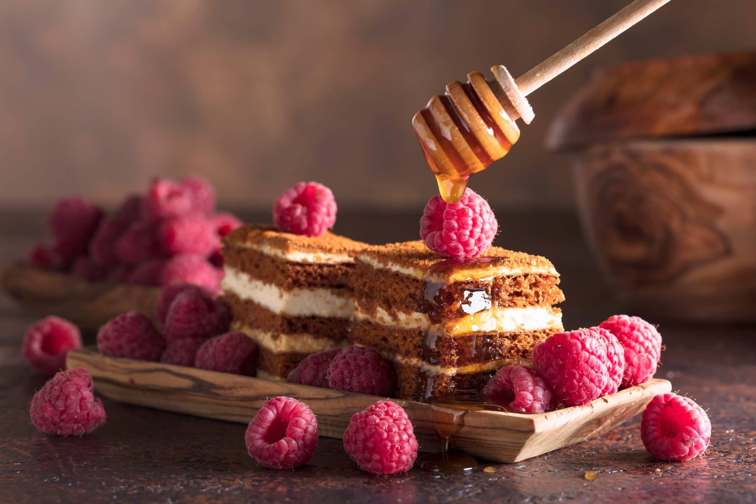 Honey Desserts Blog Image. Image du blog desserts au miel.