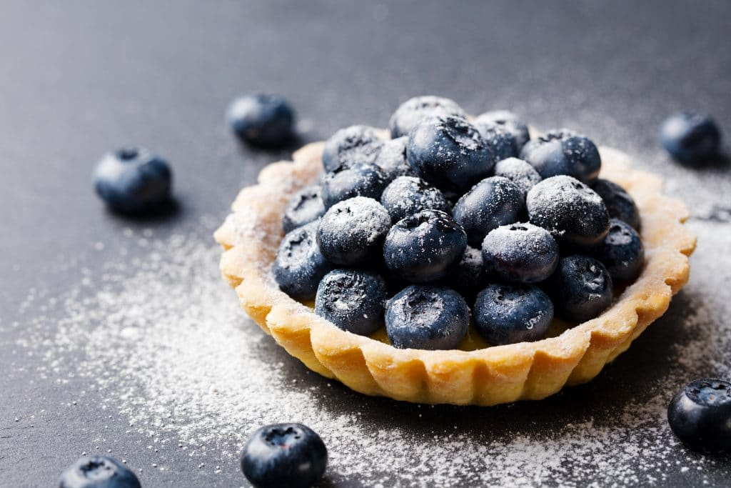 Blueberry Tartlets Blog Image. Image du blog tartelettes aux bleuets.