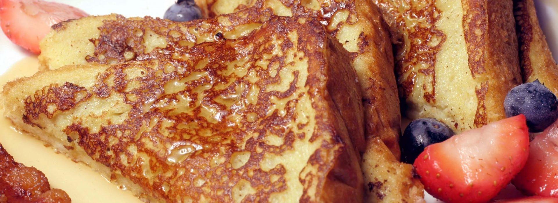 French Toast Blog Image. Image du blog pain doré.