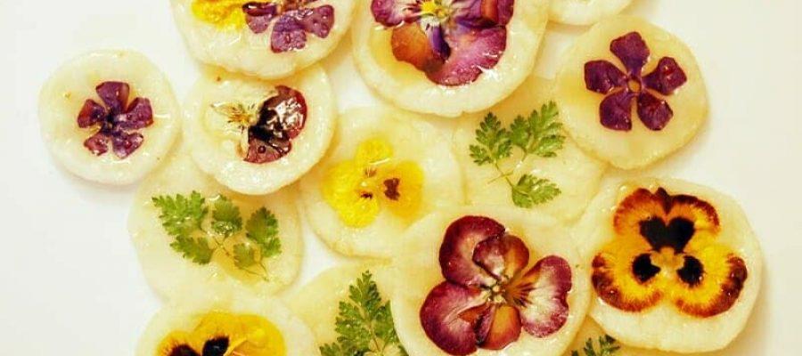 Desserts With Flowers Blog Image. Image du blog fleurs comestibles.